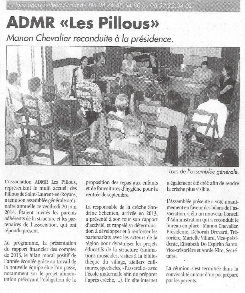 Article - Assemblée Générale 2014