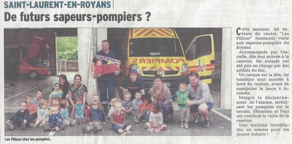 Article - Visite des pompiers